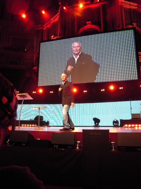 Sy speaking at the Royal Albert Hall, London